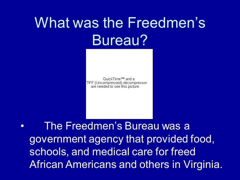 What was the Freedmen's Bureau