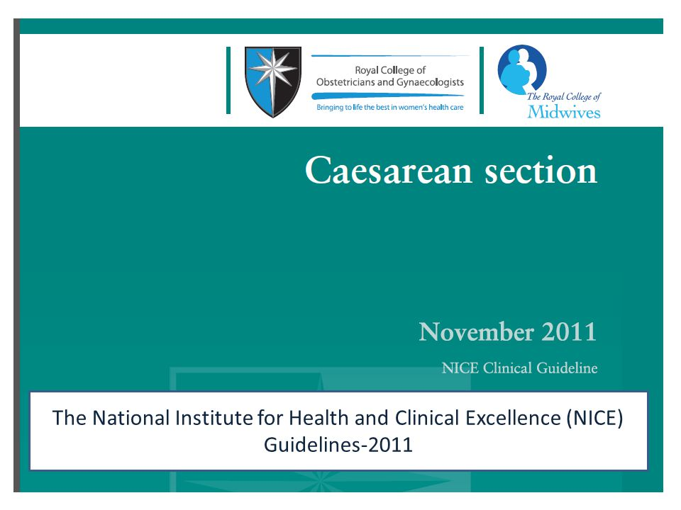 The National Institute for Health and Clinical Excellence (NICE) Guidelines-2011