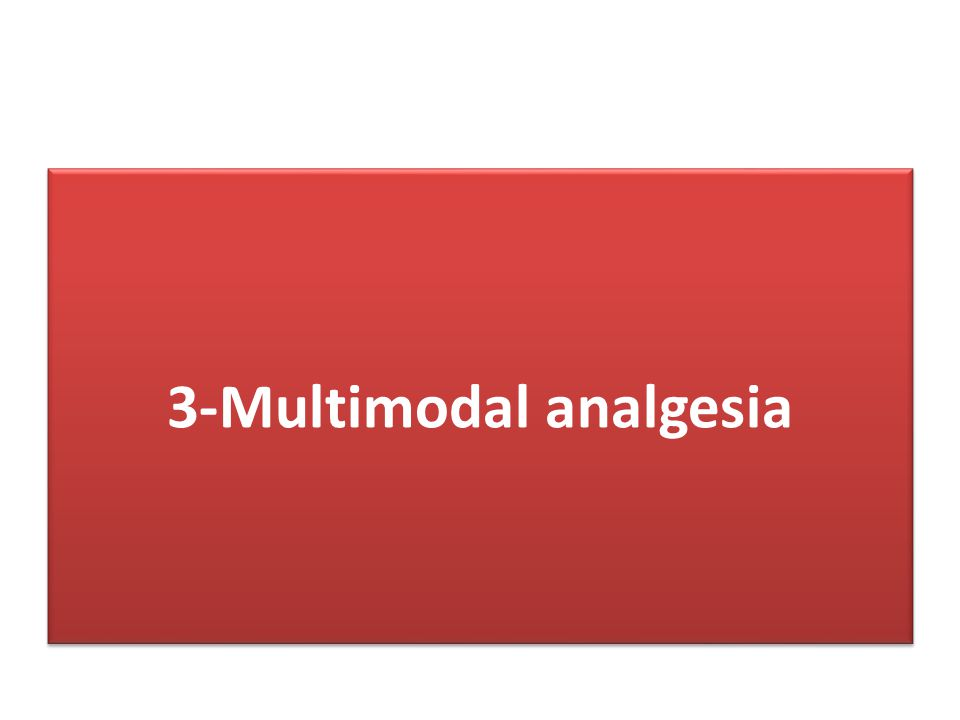 3-Multimodal analgesia