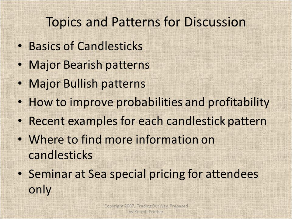 Topics and Patterns for Discussion