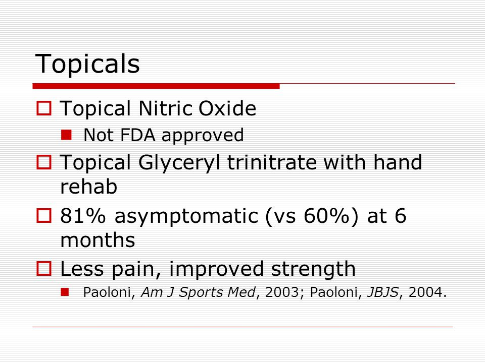 Topicals Topical Nitric Oxide