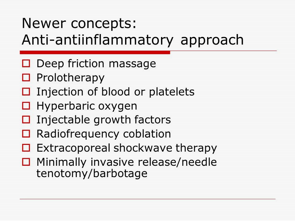 Newer concepts: Anti-antiinflammatory approach
