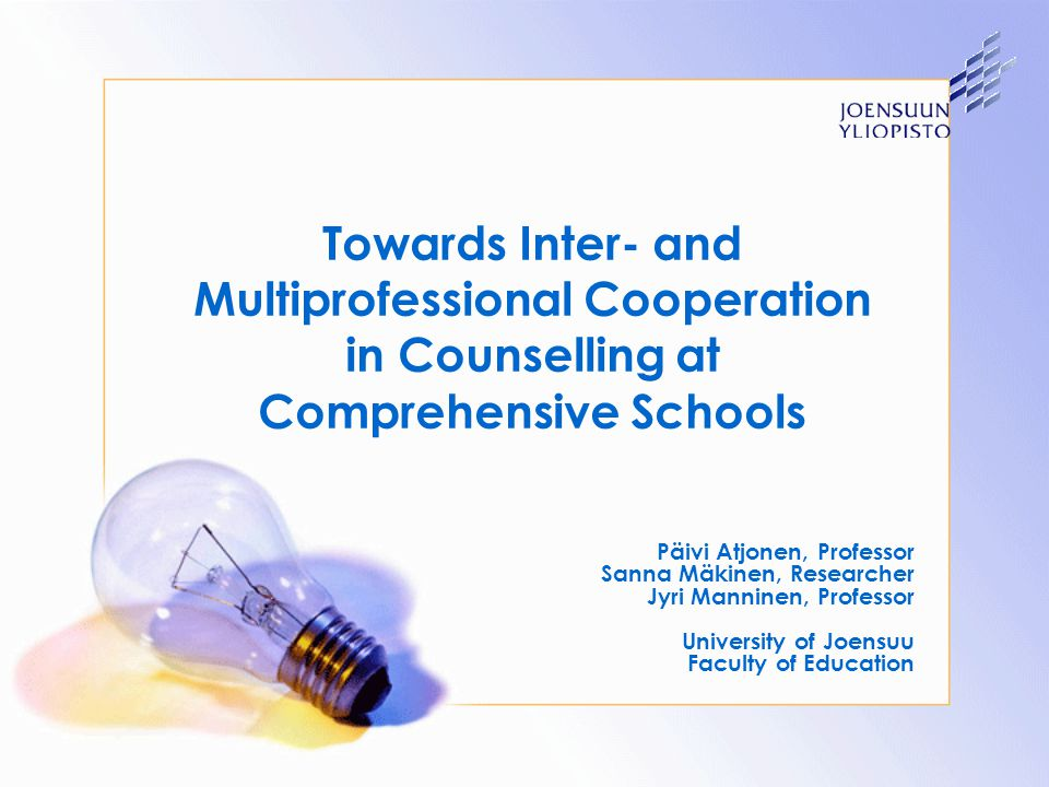 Towards Inter- and Multiprofessional Cooperation in Counselling at Comprehensive Schools