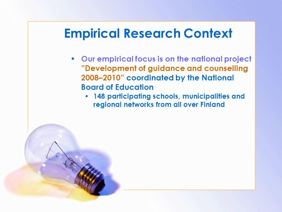 Empirical Research Context