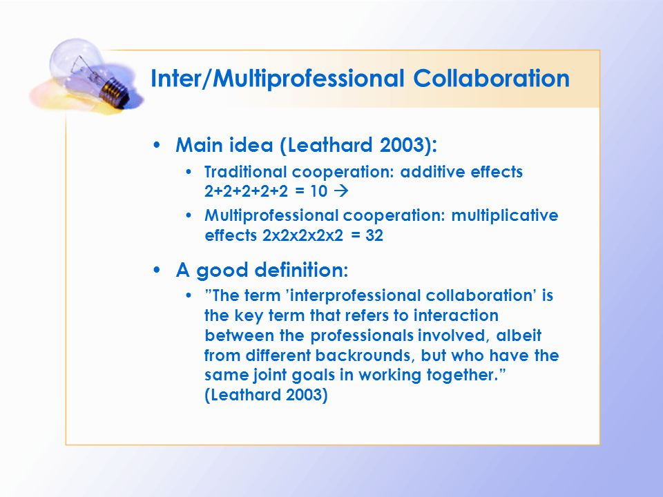 Inter/Multiprofessional Collaboration