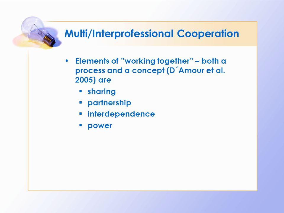 Multi/Interprofessional Cooperation