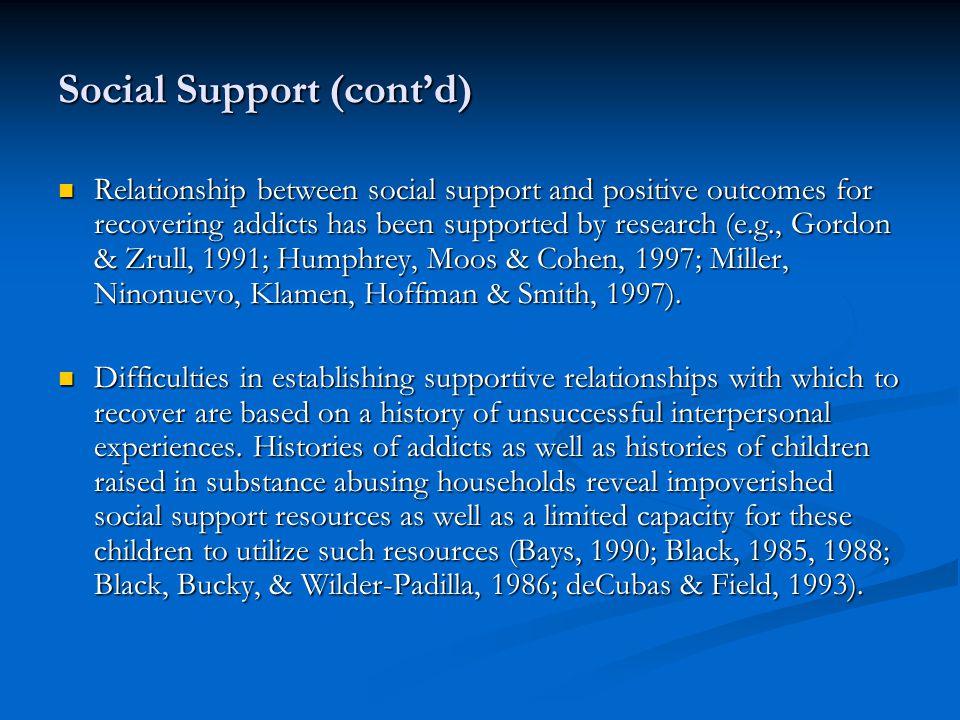 Social Support (cont'd)
