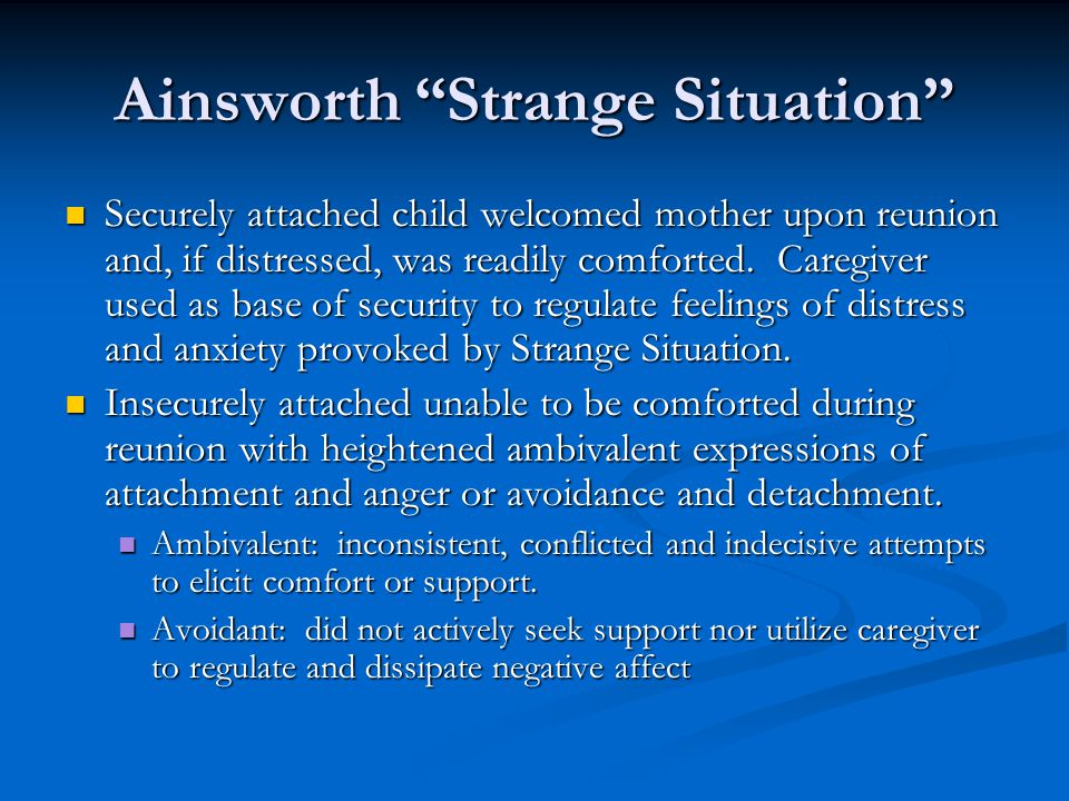 Ainsworth Strange Situation