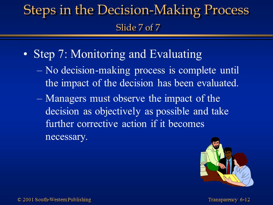 Steps in the Decision-Making Process Slide 7 of 7