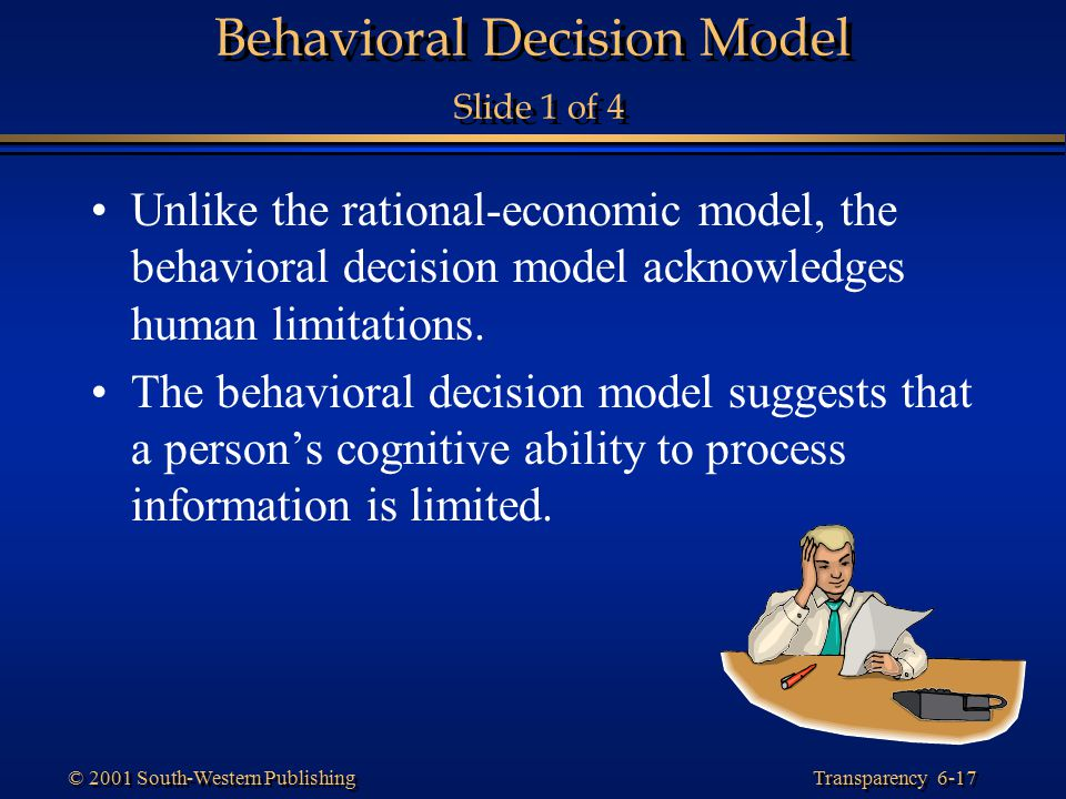 Behavioral Decision Model Slide 1 of 4