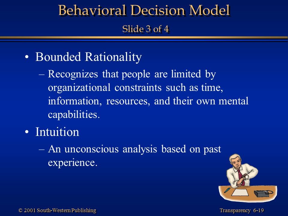 Behavioral Decision Model Slide 3 of 4