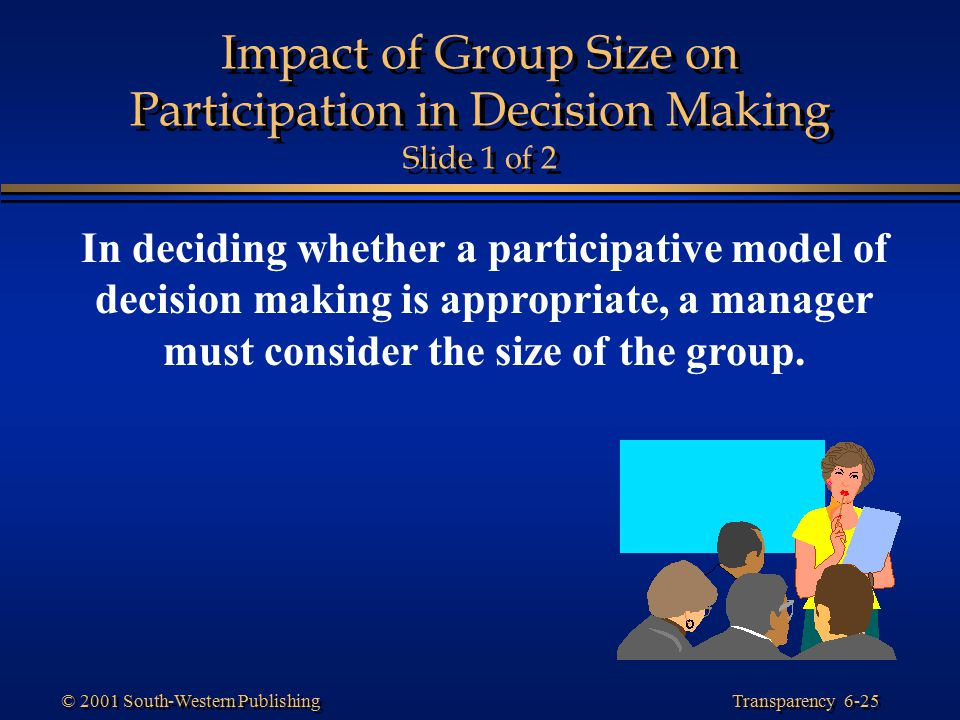 Impact of Group Size on Participation in Decision Making Slide 1 of 2
