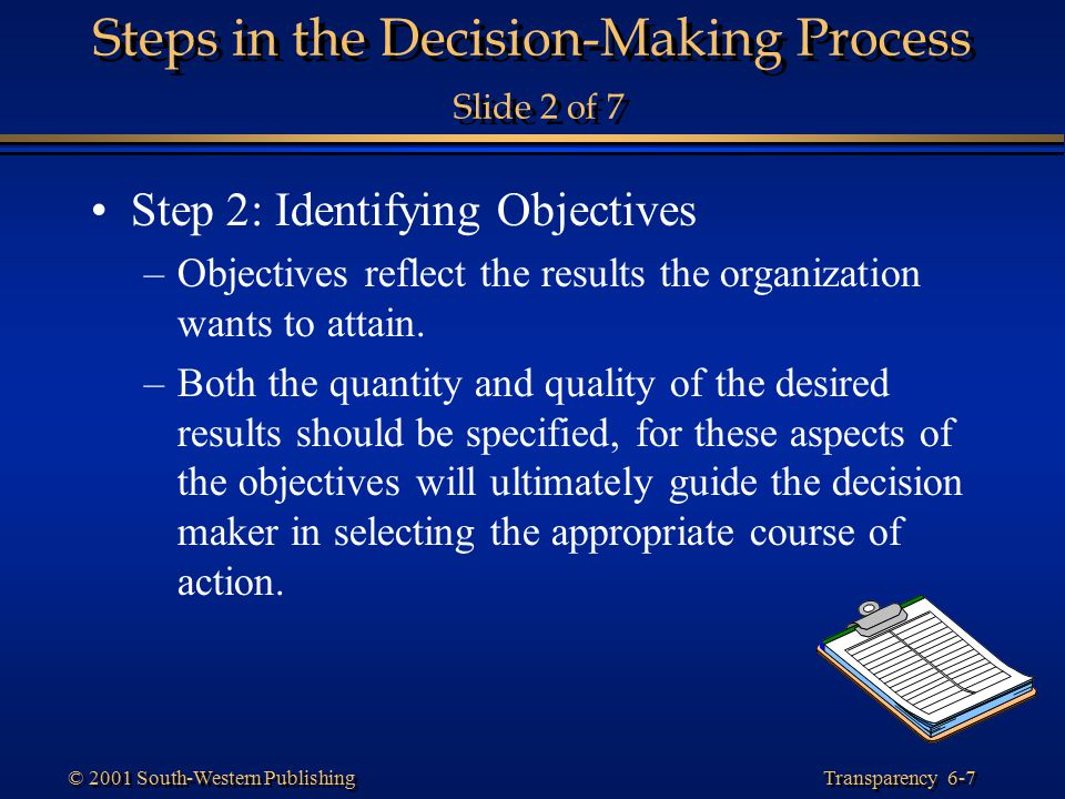 Steps in the Decision-Making Process Slide 2 of 7