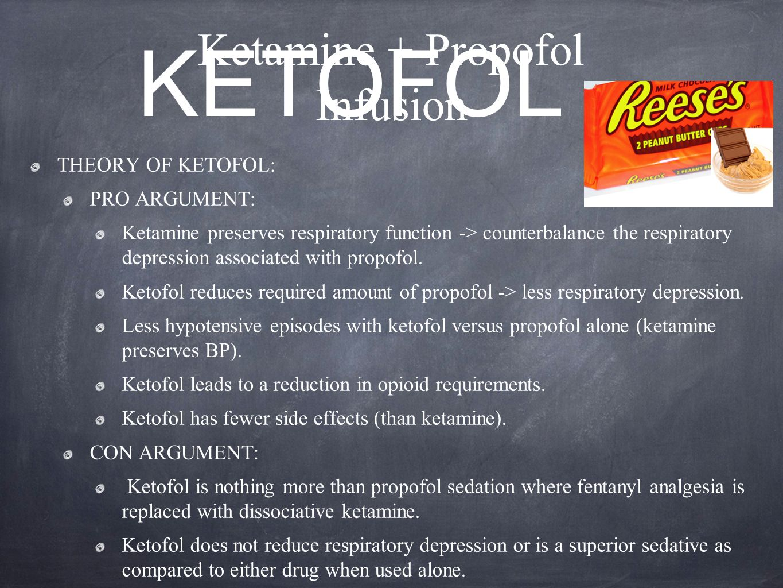 Ketamine + Propofol Infusion