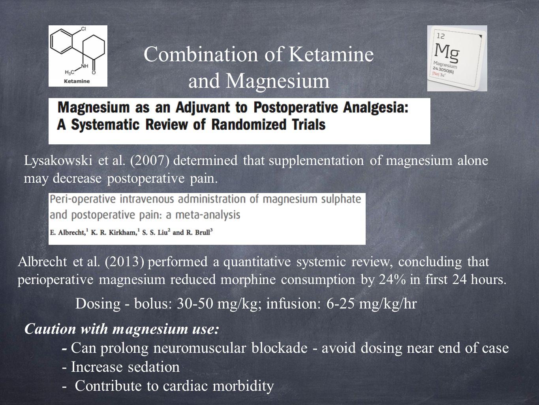 Combination of Ketamine and Magnesium