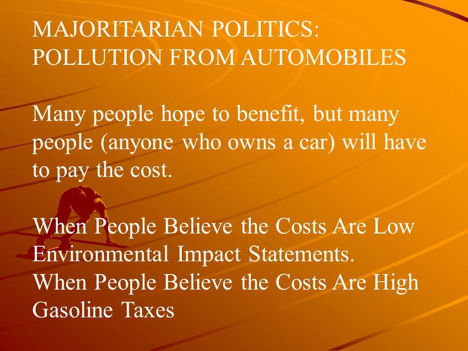 MAJORITARIAN POLITICS: POLLUTION FROM AUTOMOBILES