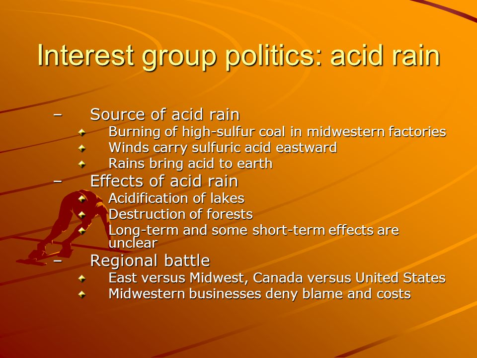 Interest group politics: acid rain
