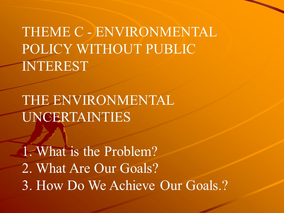 THEME C - ENVIRONMENTAL POLICY WITHOUT PUBLIC INTEREST