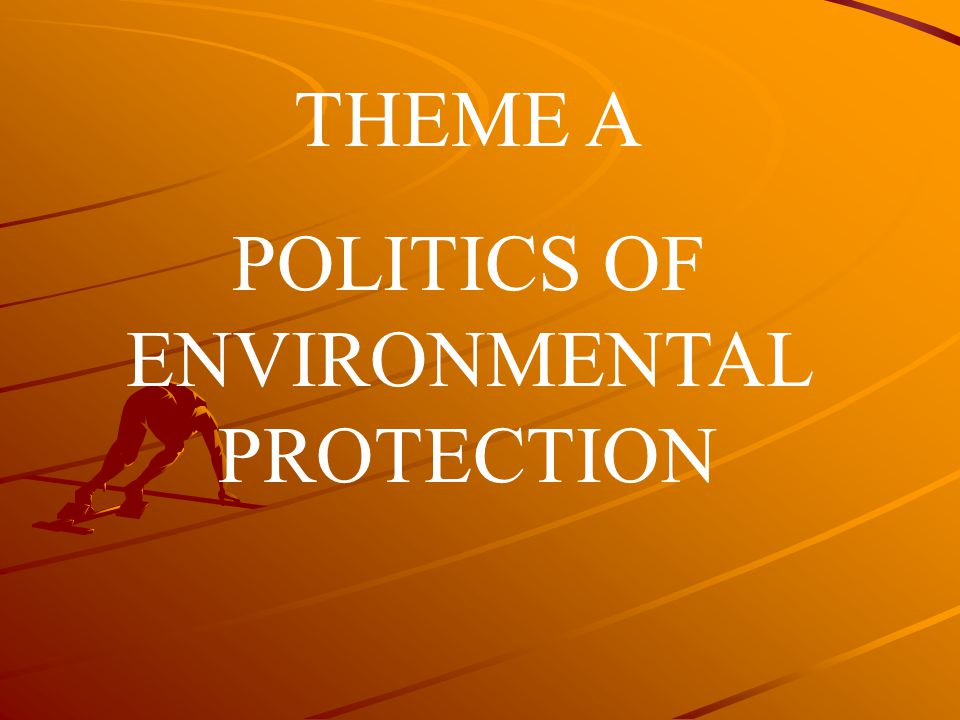 POLITICS OF ENVIRONMENTAL PROTECTION