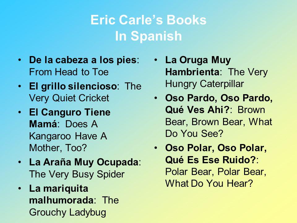 Eric Carle's Books In Spanish