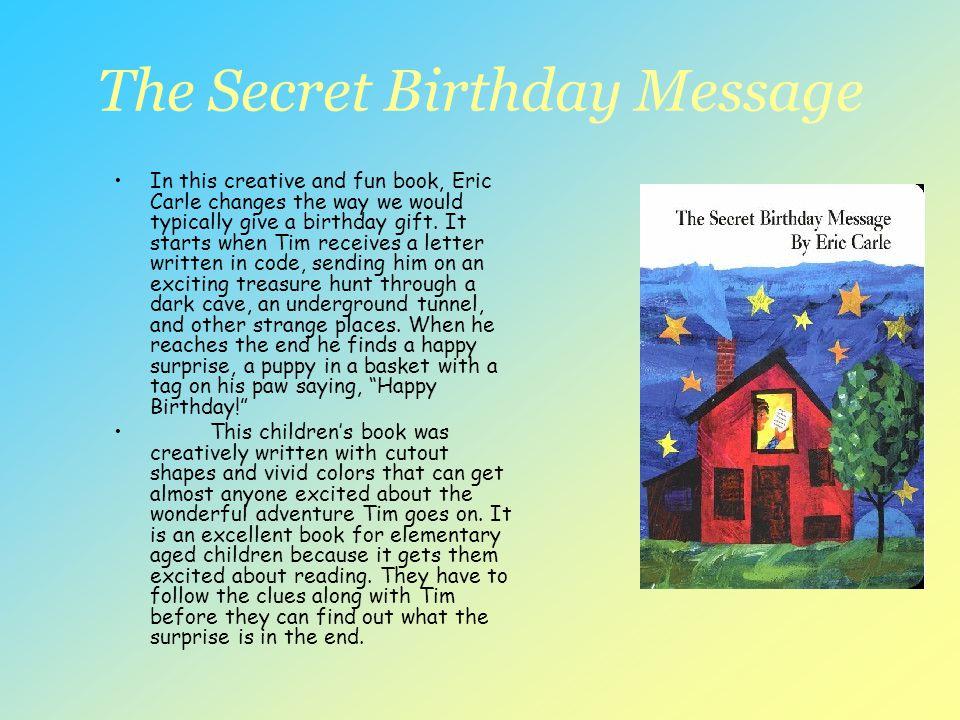The Secret Birthday Message