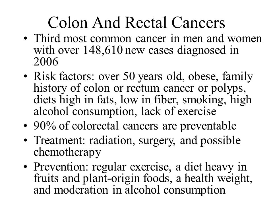 Colon And Rectal Cancers
