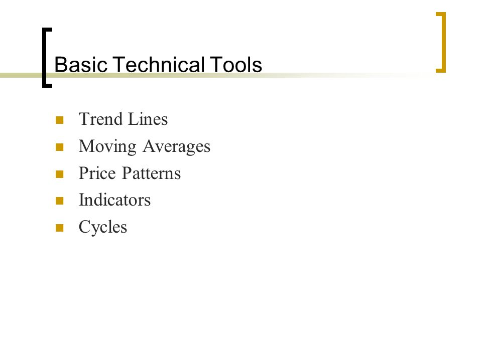Basic Technical Tools Trend Lines Moving Averages Price Patterns