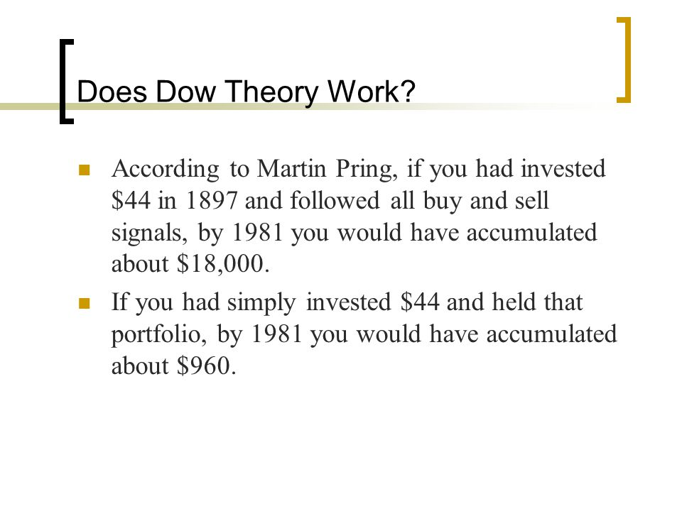 Does Dow Theory Work