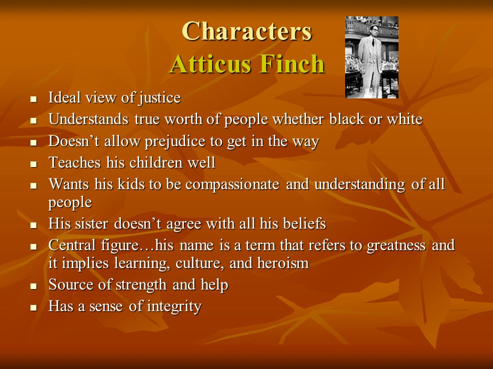 Characters Atticus Finch