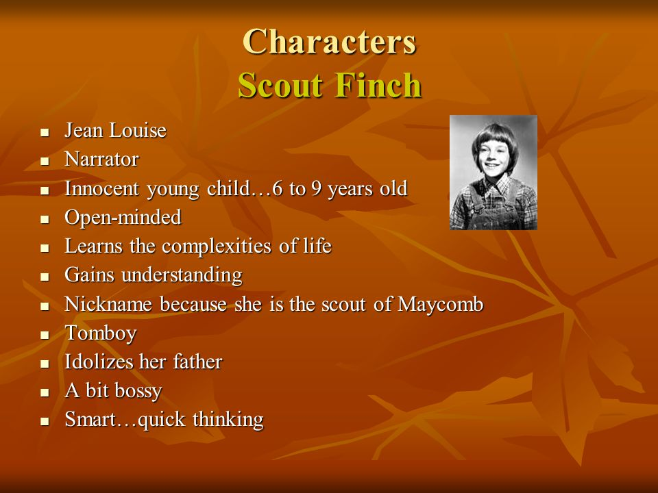 Characters Scout Finch