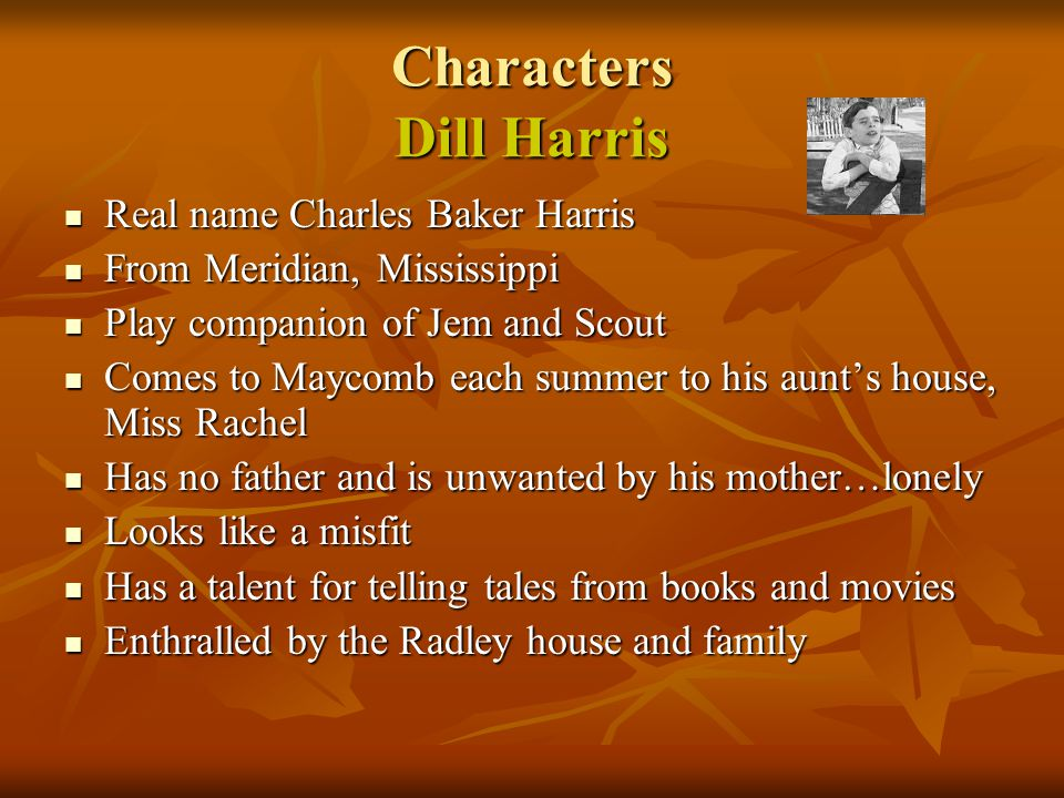 Characters Dill Harris