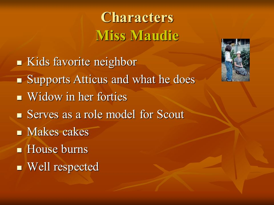 Characters Miss Maudie