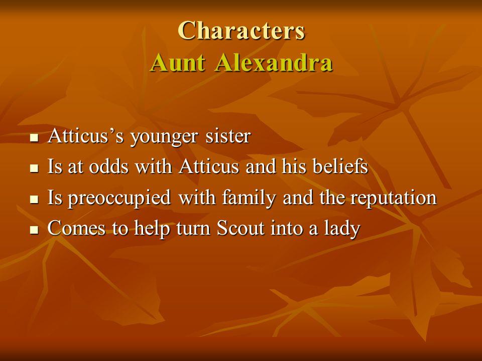 Characters Aunt Alexandra