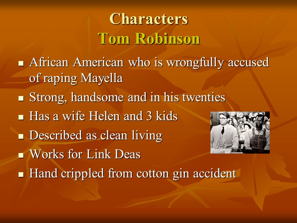 Characters Tom Robinson