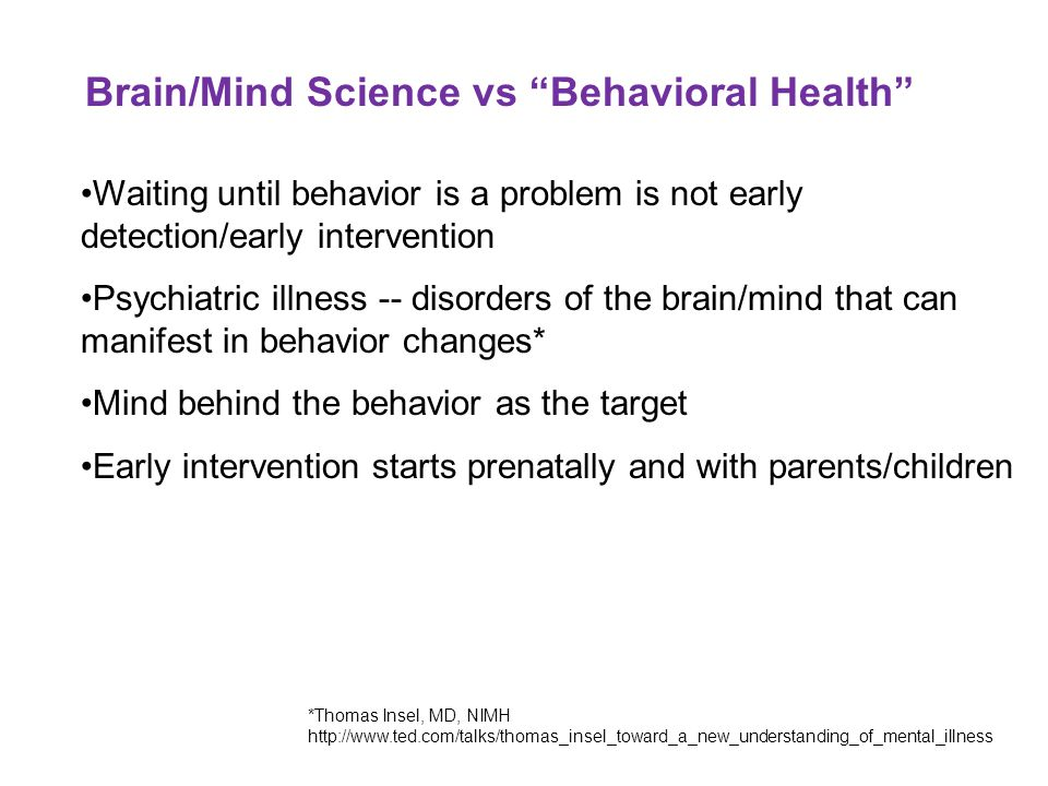 Brain/Mind Science vs Behavioral Health