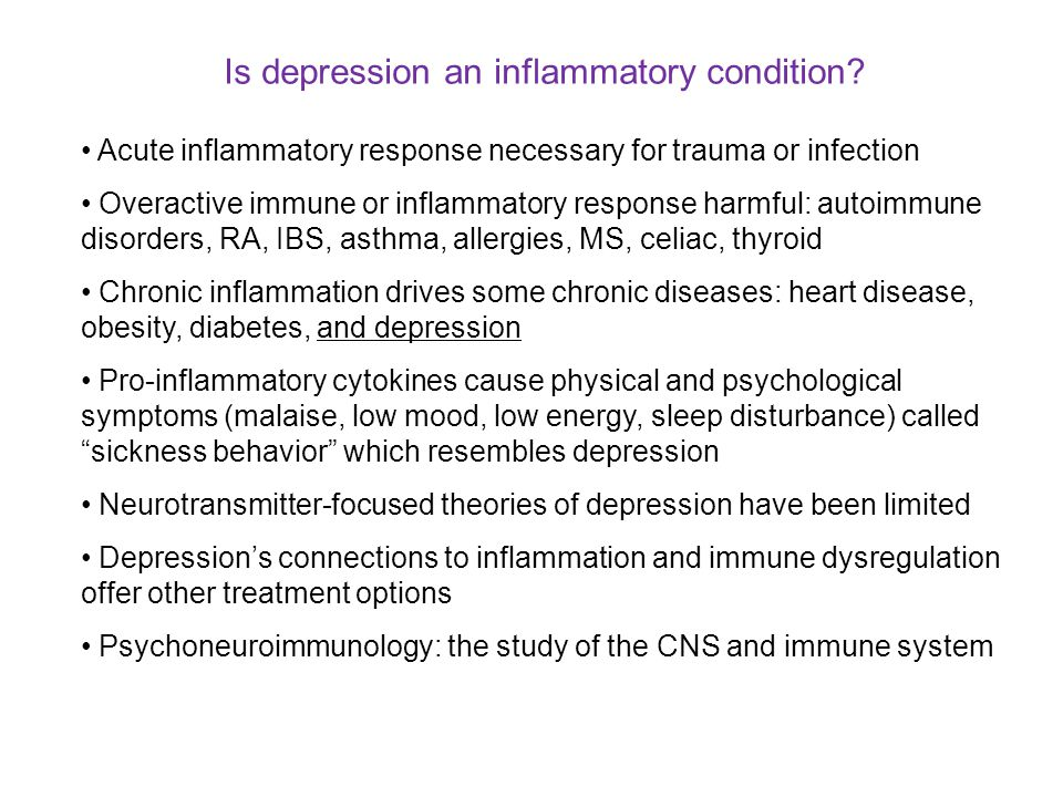 Is depression an inflammatory condition