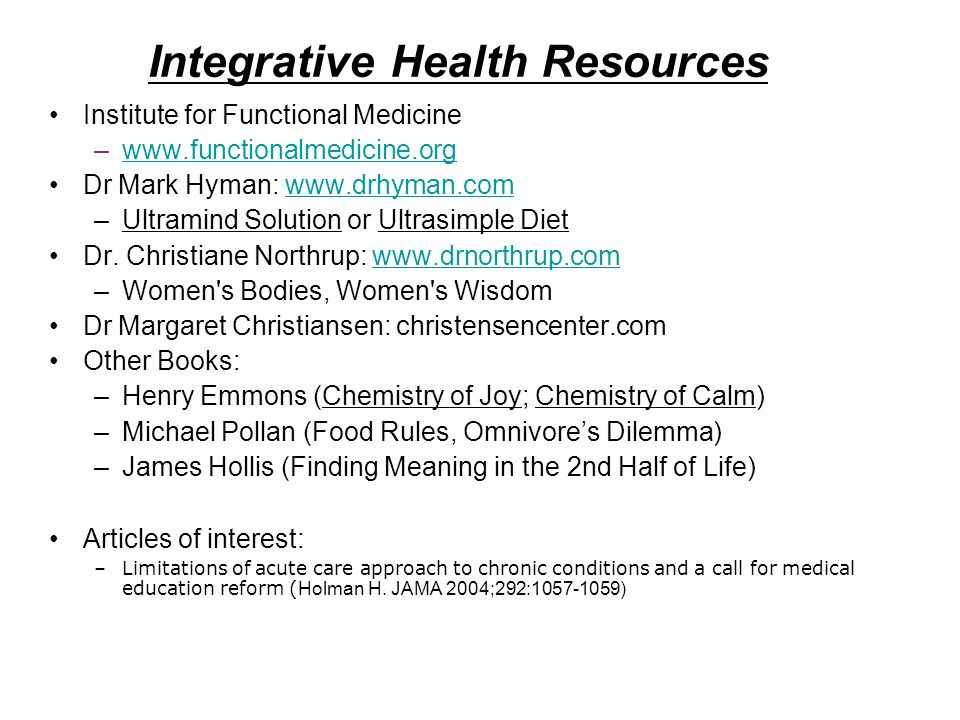 Integrative Health Resources