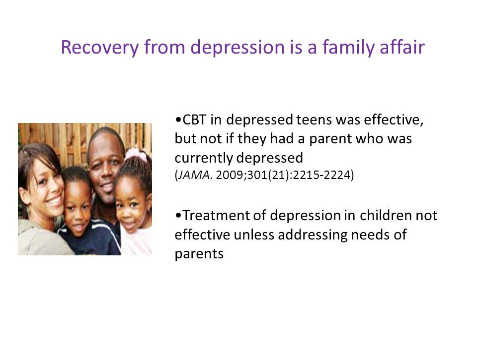 Recovery from depression is a family affair