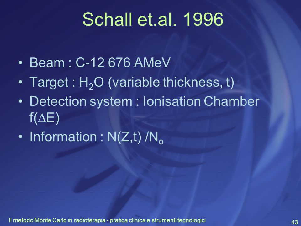 Schall et.al. 1996 Beam : C-12 676 AMeV