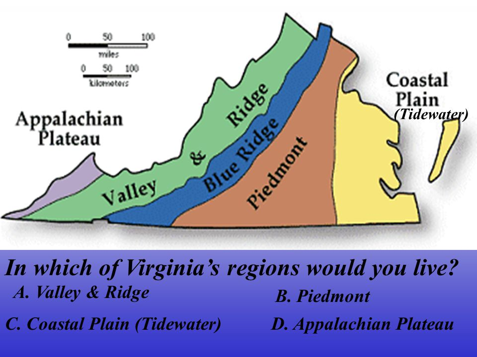 In which of Virginia's regions would you live