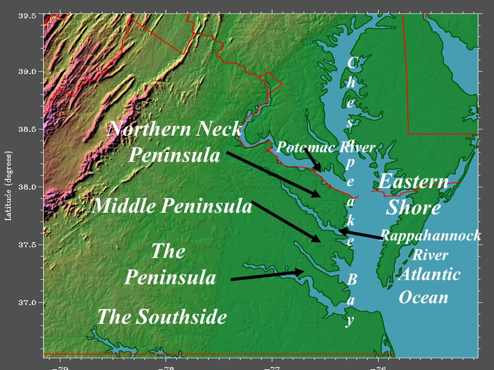Northern Neck Peninsula Eastern Shore The Peninsula