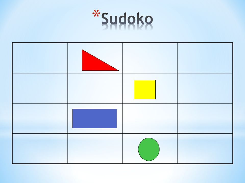 Sudoko As a group on the floor with laminated shape cards