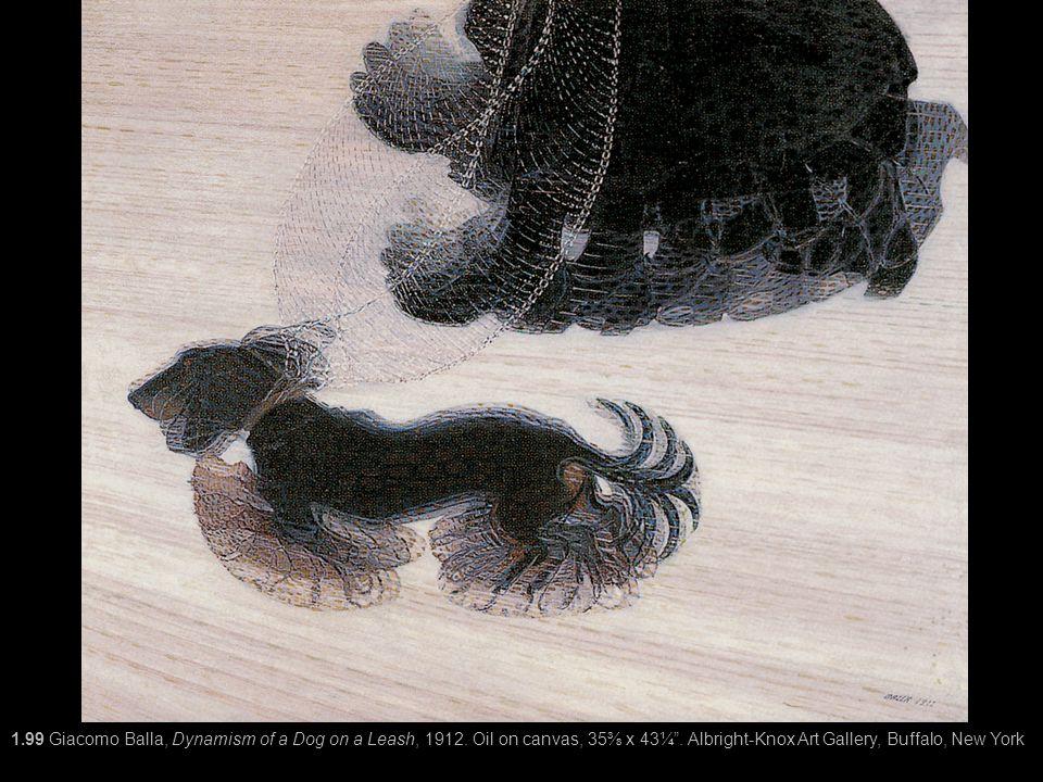1. 99 Giacomo Balla, Dynamism of a Dog on a Leash, 1912