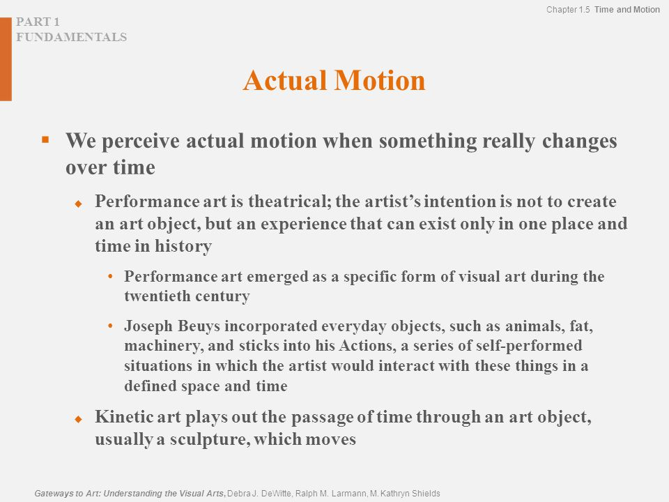 Actual Motion We perceive actual motion when something really changes over time.