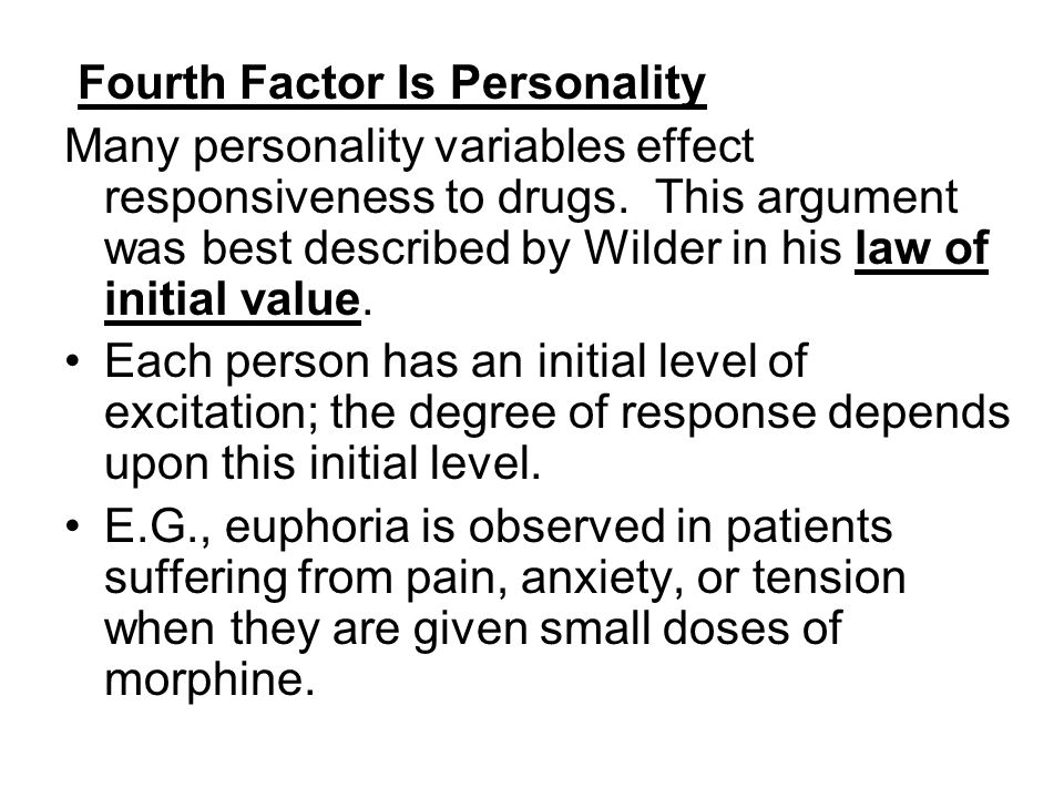 Fourth Factor Is Personality