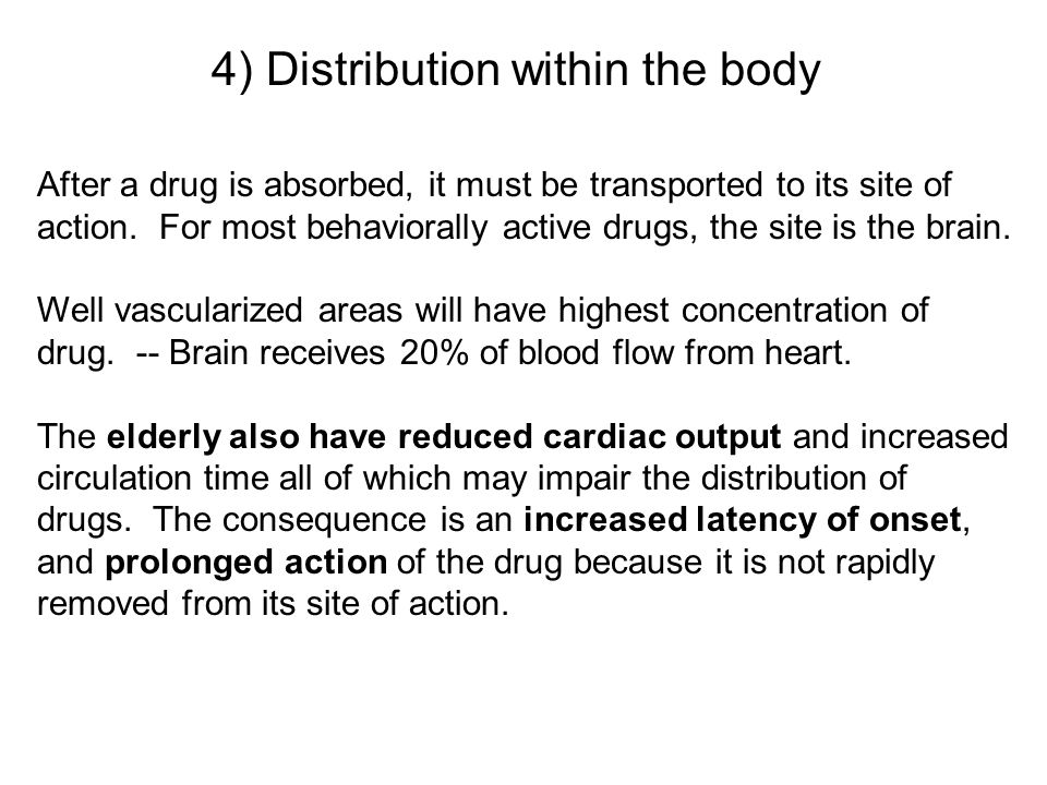 4) Distribution within the body