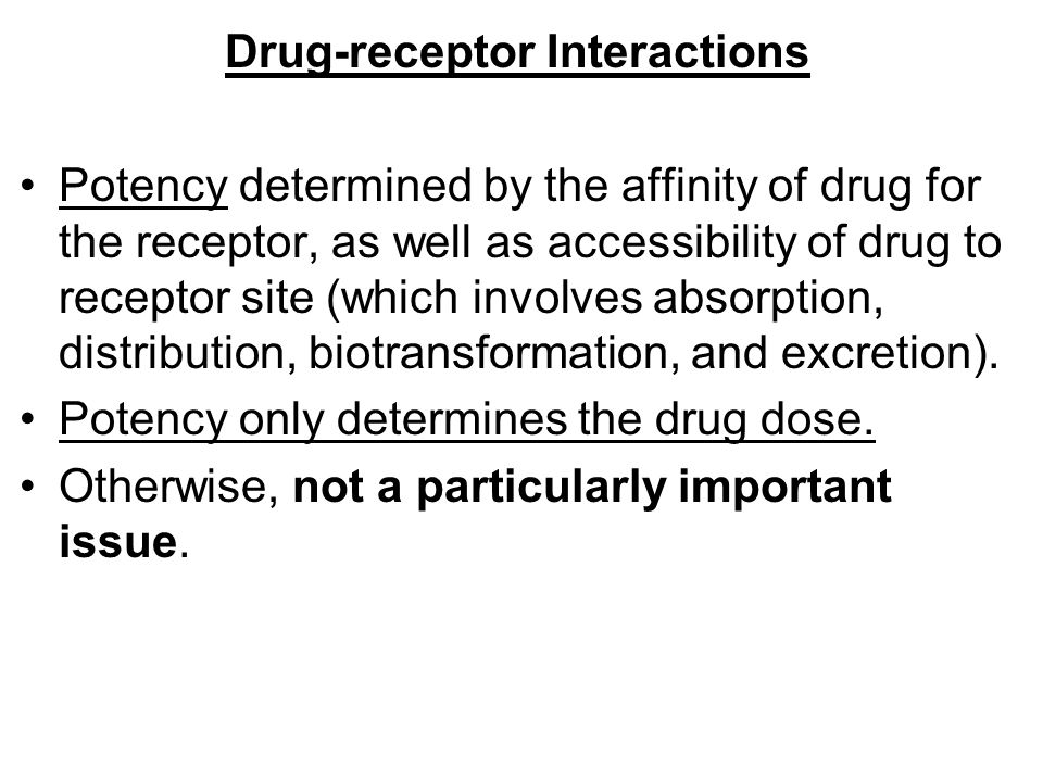 Drug‑receptor Interactions