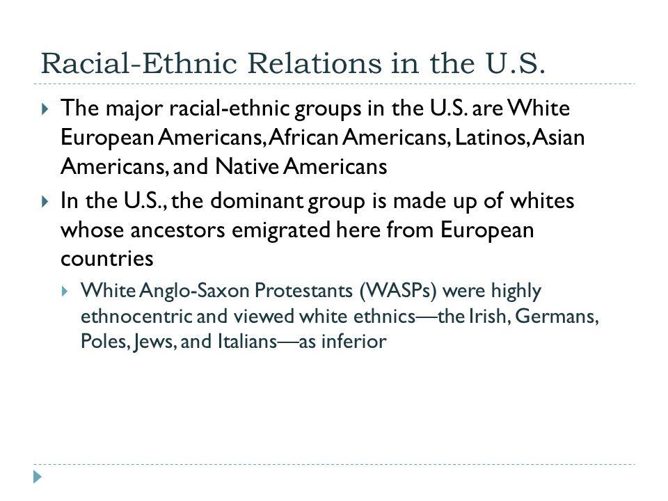 Racial-Ethnic Relations in the U.S.
