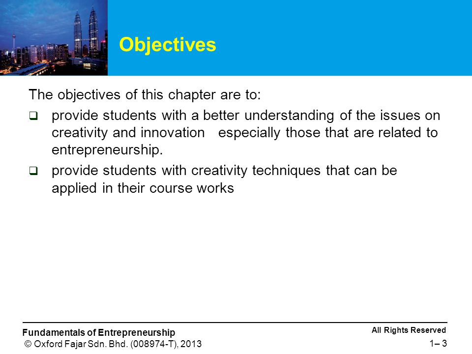 Objectives The objectives of this chapter are to: