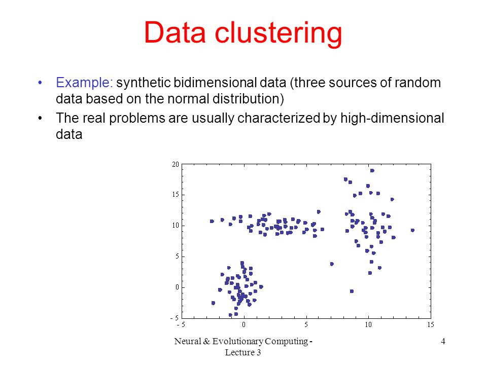 Neural & Evolutionary Computing - Lecture 3